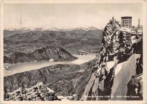Switzerland Monte Generoso Vista verso Lugano Lake Panorama