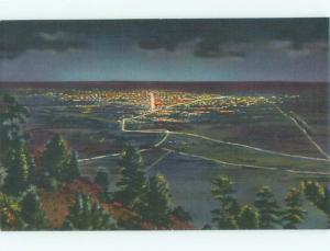 Unused Linen AERIAL VIEW OF TOWN Denver Colorado CO n3453-22