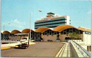 Vintage Atlanta Georgia Postcard International Airport, Front View c1960s Unused