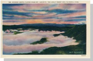 Smoky Mountains Nat'l Prk, NC/TN Postcard,Sunrise, Nr Mint!