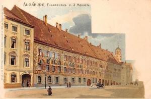 Germany Augsburg Fuggerhaus u. 3 Mohren Postkarte