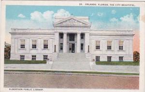 Florida Orlando The City Beautiful Albertson Public Library