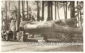 Memphis Eqypt Real Photo - Colossal Statue of Ramses Memphis Real Photo - Col...