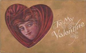 Valentine Girl Inside Heart