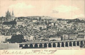 Switzerland Lausanne Vue generale 02.88