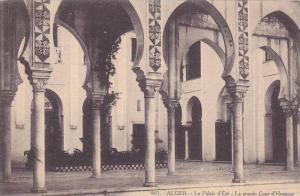 Le Palais d'Ete - La Grande Cour d'Honneur, Alger, Algeria, Africa, 1900-1910s