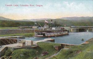 Oregon Columbia River Steamer In Cascade Locks