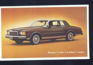 1976 CHEVROLET MONTE CARLO LANDAU COUPE CAR DEALER ADVERTISING POSTCARD