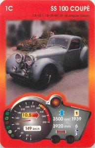 Piatnik 6x9cm auto revue trade card 1C JAGUAR SS 100 COUPE