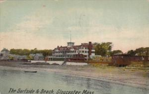 Massachusetts Gloucester The Surfside Hotel and Beach 1911