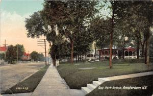 Amsterdam New York~Guy Park Avenue~Houses Along Unpaved Street~c1910 Postcard