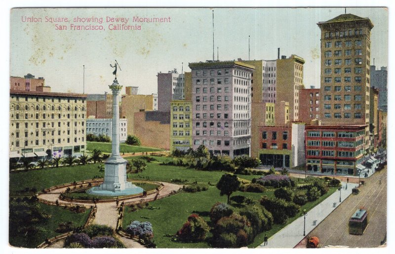 San Francisco, California, Union Square, showing Dewey Monument