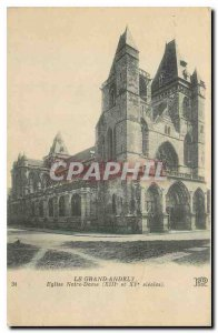 Old Postcard Grand Andely Notre Dame Church