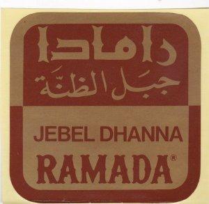 Saudi Arabia Jebel Dhanna Ramada Inn Vintage Luggage Label lbl0750