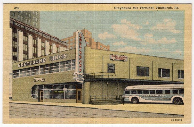 Pittsburgh, Pa, Greyhound Bus Terminal