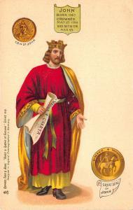 Raphael Tuck Kings and Queens of England King John Postcard