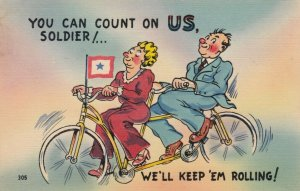You can count on us Soldier, Bicycle couple , 30-40s