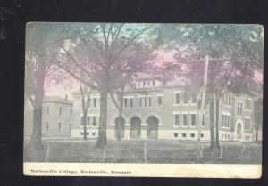 MARIONVILLE MISSOURI MARIONVILLE COLLEGE SCHELL CITY MO. OLD POSTCARD