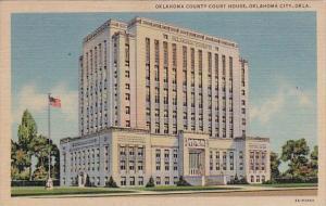 Oklahoma City Oklahoma County Court House 1954