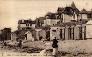 CPA Jullouville - Jullouville-sur-Mer - Les Villas sur la Plage (633067)
