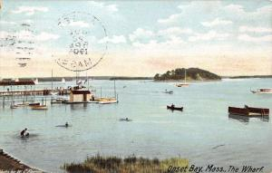 Onset Bay Massachusetts Wharf Waterfront Scenic View Antique Postcard K30829