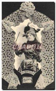 Old Postcard Folklore Lace Renaissance Dentelliere