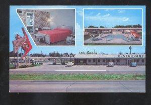 TULSA OKLAHOMA SANDS MOTOR HOTEL VINTAGE ADVERTISING POSTCARD ROUTE 66