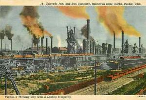 CO, Pueblo, Colorado, Colorado Fuel and Iron Company, Curteich 2B-H421
