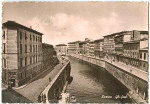 Italy, Livorno, Gli Scali, The Landing Places, 1957 used Postcard