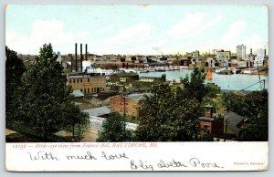 Baltimore MD~Birdseye Federal Hill~Knickerbocker Ice Co~Transport~Skyline~1906
