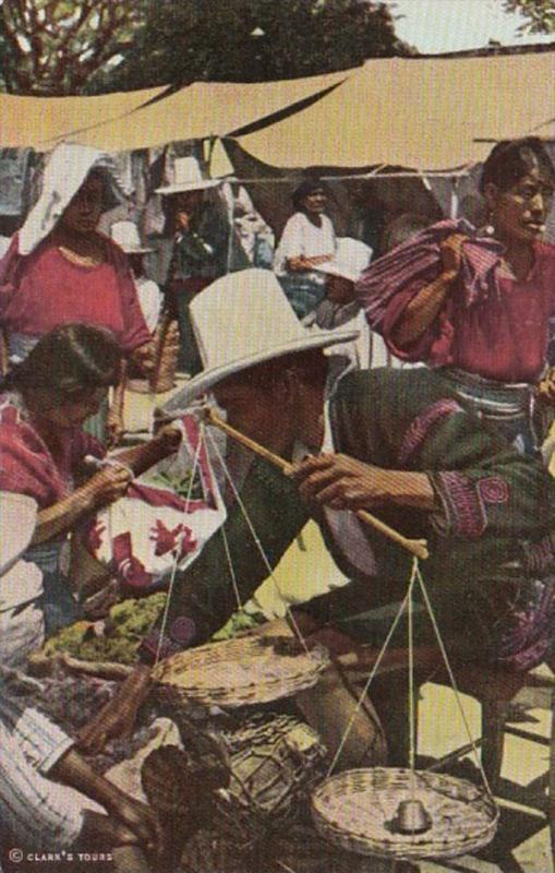 Guatemala Chichicastenango Typical Market Scene