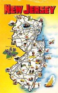 Map  New Jersey, USA Postcard Unused