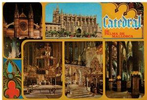 Postcard - Palma - La Catedral Siglo XIII - Mallorca Espana Spain
