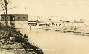 IA - Nashua. Power House and Dam - RPPC