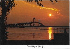 US Unused. Newport, Rhode Island. Newport Bridge.  Nice.