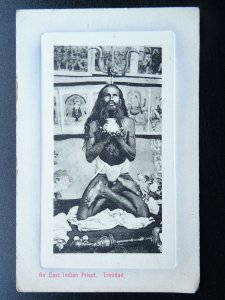 Caribbean Island Trinidad AN EAST INDIAN PRIEST Old Postcard by Smith Bros & Co.