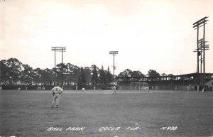 Cocoa Florida Ball Park Baseball Sports Real Photo Postcard AA12223