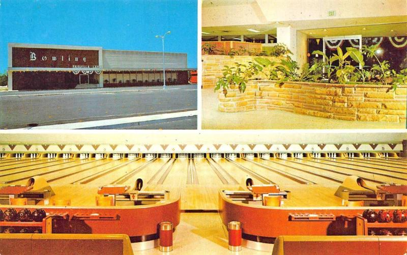 Orland FL Fairvilla Lanes Bowling Alley Postcard / HipPostcard