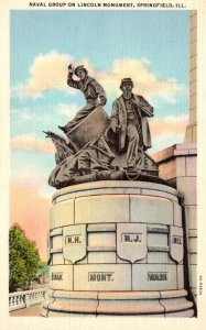 Illinois Springfield Naval Group On Lincoln Monument Curteich