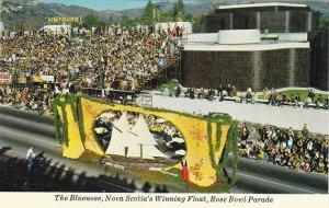 PASADENA, CA, 1950-60s; Bluenose, Nova Scotia's Winning Float, Rose Bowl Parade