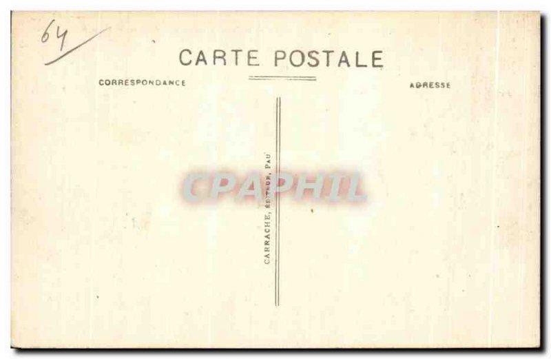 Old Postcard Pau Boulevard des Pyrenees saw the extension of the Place Royale