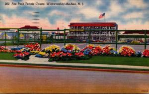 New Jersey Wildwood Fox Park Tennis Courst 1949