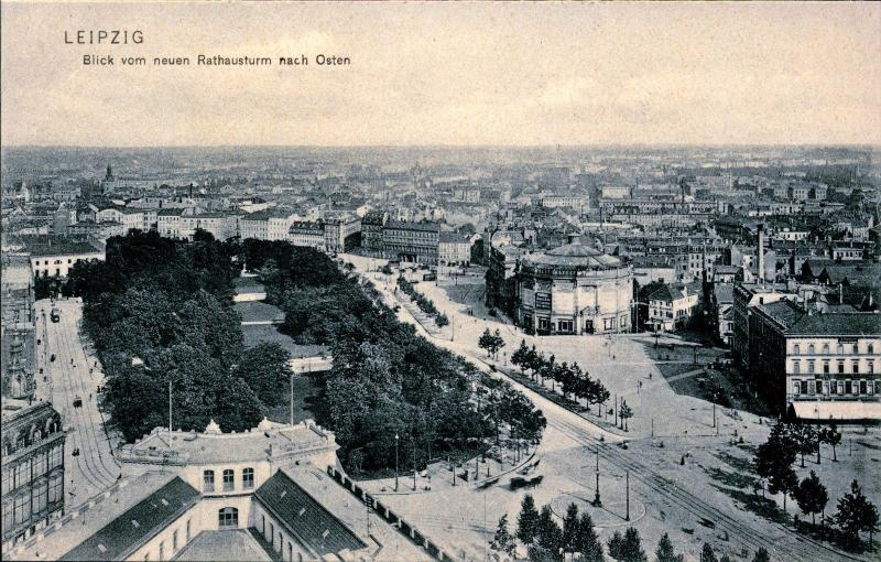 LEIPZIG GERMANY, View from the new Rathaustrum to the east, Postcard GER576209