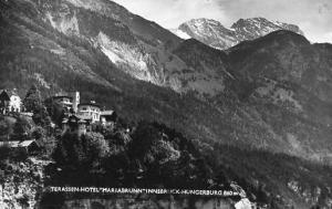 Austria - Innsbruck. Hotel Marialbrunn, Mt. Hungerburg - RPPC