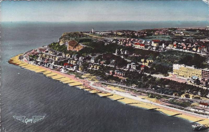 RP; Hand-colored, La France vue du ciel, le Havre-Sainte-Adresse, Le Cap de l...
