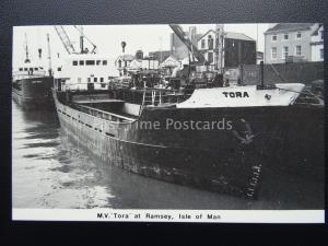 Isle of Man Shipping MV TORA - N.U.S. Strike c1980's Postcard by Mannin