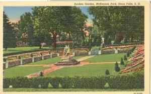 Sunken Garden, McKennan Park, Sioux Falls, SD, unused lin...