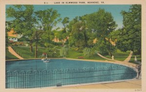 ROANOKE , Virginia, 30-40s; Lake in Elmwood Park