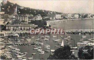 Modern Postcard Cannes Vue Generale taking Suquet Charter