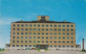 Exterior View, Entrance to Hopital Hotel-Dieu, Amos, Quebec, Canada, PU-1959